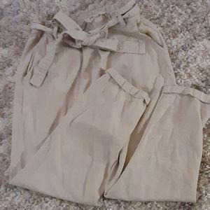 Thread & Supply Paper Bag pants natural sz S